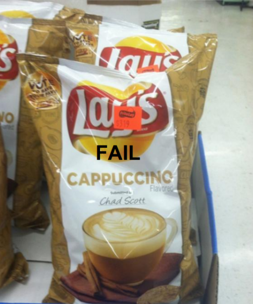 Cappuccino Potato Chips - FAIL.